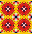 grunge tribal like square seamless pattern vector image