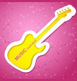 guitar music background vector image