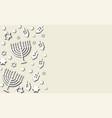 hanukkah background paper cut design vector image vector image