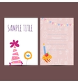 Happy birthday postcard vector image vector image