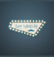 happy fathers day greeting card in retro style vector image vector image