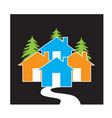 houses village concept icon design vector image vector image