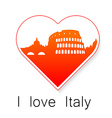 i love Italy template vector image vector image