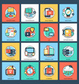 internet and networking icons vector image vector image