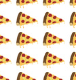 italian pizza slice pattern seamless vector image