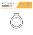 jewelry ring editable stroke line icon vector image