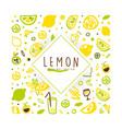 lemon banner template original design freshly vector image vector image