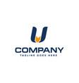letter u and arrow logo design abstract logo vector image vector image