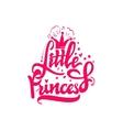 Little Princess Calligraphic patch Unique Custom vector image