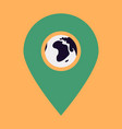 location icon with globe in middleflat style for vector image