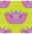 Lotus seamless ethnic pattern vector image