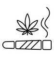 marijuana joint icon vector image vector image