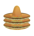 mexican classic hat icon vector image vector image