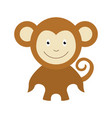 monkey cartoon design flat smile to vector image