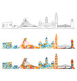 montreal skyline design set vector image vector image