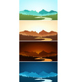 mountain scenery in various color vector image vector image