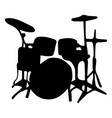musical instrument silhouette drums vector image vector image