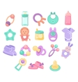 Nursery Objects Collection vector image vector image