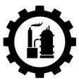 petrochemical industry icon logo on white vector image vector image