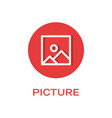picture round flat icon image symbol vector image