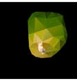 Polygonal green sky lanterns vector image