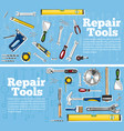 repair tools flyers in hand drawn style vector image
