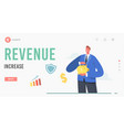 revenue increase landing page template male vector image vector image