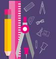 school supplies concept vector image vector image