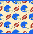 seamless pattern with soccer balls american vector image vector image