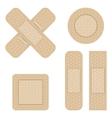 set adhesive bandage vector image