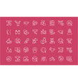 set line icons gynecology vector image