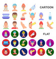 skin care cartoon icons in set collection for vector image