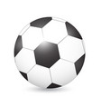 soccer football ball on white vector image vector image