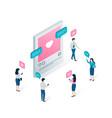 social media blogging and social network concept vector image vector image