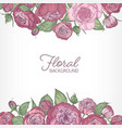 square romantic floral backdrop decorated vector image