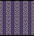 striped ornate greek seamless border pattern vector image vector image