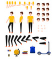 student boy creation kit with school supplies and vector image vector image