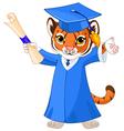 Tiger Graduates vector image vector image