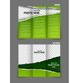 Torn paper tri fold brochure vector image