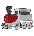 train drawing on white background vector image