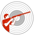 Trap shooting vector image