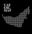 UAE oil map Silhouette maps of United Arab vector image vector image
