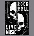 vintage rock and roll typographic for t-shirt tee vector image vector image