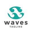waves initial w letter logo design vector image vector image