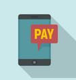 web payment icon flat style vector image vector image