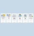 Web site linear art onboarding screens