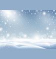 winter background of falling snow christmas card vector image vector image