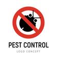 pest control exterminators company logo vector image