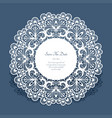 round card with cutout lace border vector image