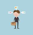 businessman life style concept cartoon vector image